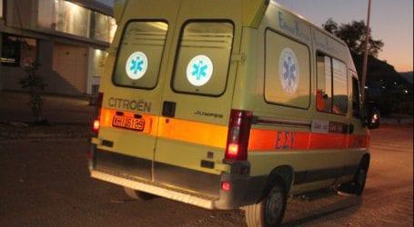 Δυο τραυματίες στο τροχαίο στον κόμβο Αλμυρού