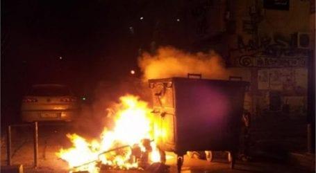 Φωτιά σε κάδους στο Βόλο