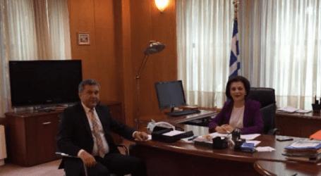 Με τη Μ. Χρυσοβελώνη συναντήθηκε ο πρόεδρος της ΕΚΠΟΛ