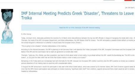 Στο Wikileaks συνομιλία Τόμσεν – Βελκουλέσκου για την Ελλάδα
