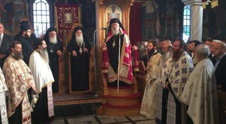 Πάνδημη υποδοχή του Αρχιεπισκόπου Αθηνών Ιερώνυμου στο Βελεστίνο