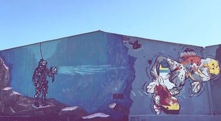 Το νέο υπέροχο γκράφιτι στο λιμάνι του Βόλου (φωτο)