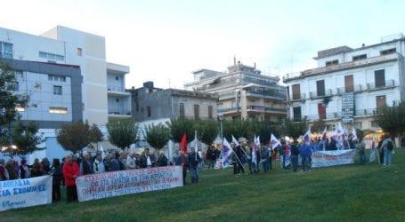 Συγκέντρωση και πορεία για τα εργασιακά στον Βόλο