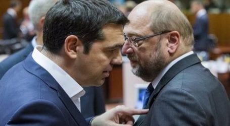Τσίπρας σε Σουλτς: Θέλουμε λύση για το χρέος ως το τέλος του έτους
