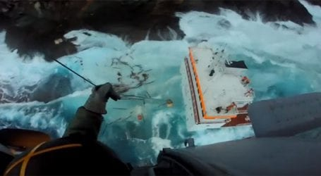 Βίντεο που προκαλεί ίλιγγο: Η δραματική διάσωση των ναυτικών στην Άνδρο