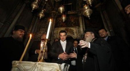 Τσίπρας στον Πανάγιο Τάφο: Αυτό το έργο θα μείνει στην Ιστορία