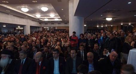 Πλήθος κόσμου στην εκδήλωση του Αχιλλέα Μπέου