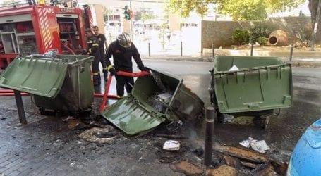 Φωτιά σε κάδο σκουπιδιών στη Ν. Δημητριάδα