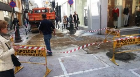 Εργασίες του Δήμου Βόλου στην οδό Σπυρίδη