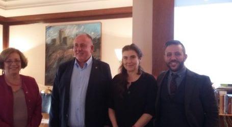 Συνάντηση Αλέξανδρου Μεϊκόπουλου με την Υπουργό Πολιτισμού και Αθλητισμού και το Δήμαρχο Ρήγα Φεραίου