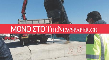 Καρέ καρέ η ανέλκυση του βυθισμένου τζιπ από το λιμάνι του Βόλου (αποκλειστικές εικόνες)