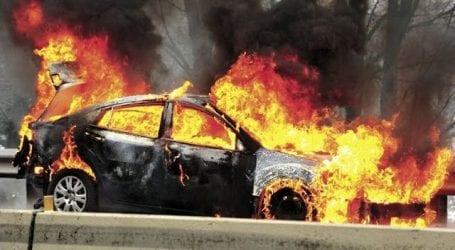 Αυτοκίνητο παραδόθηκε στις φλόγες στην Πολυμέρη