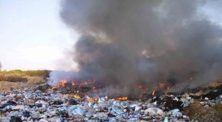 Φωτιά σε σκουπιδότοπο στη Ν. Αγχίαλο – Πυρά Διαμαντένια