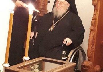 Ο Γέροντας πρ. Πειραιώς κ. Καλλίνικος στην πανήγυρη της Αγίας Ζώνης στο Βόλο
