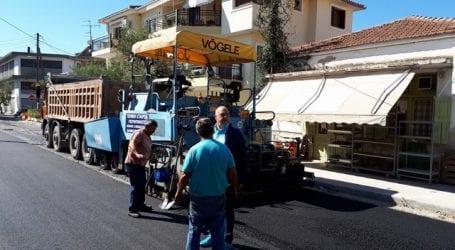 Ολοκληρώθηκαν οι εργασίες στους δρόμους της Αγριάς