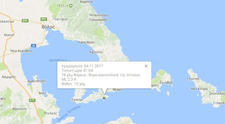 Σεισμός κοντά στο Τρίκερι (χάρτης)