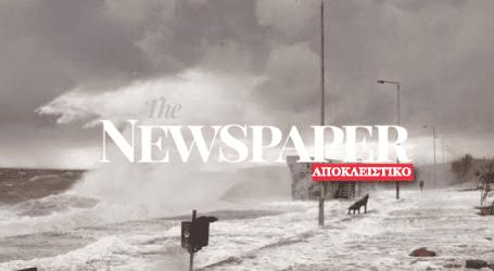 Πλημμύρισαν καταστήματα στη Νέα Αγχίαλο – Στα 3 μέτρα ύψος τα κύματα
