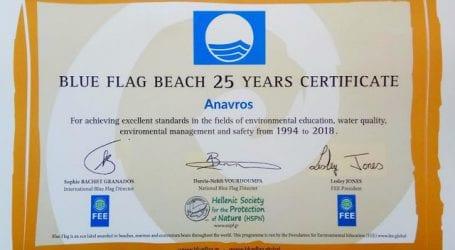 Δέκα γαλάζιες σημαίες στον Δήμο Βόλου