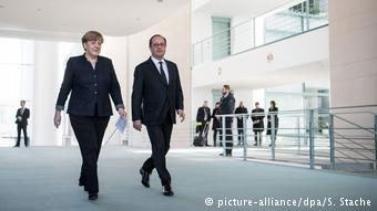 Κοινός βηματισμός Μέρκελ-Ολάντ στην ελληνική κρίση