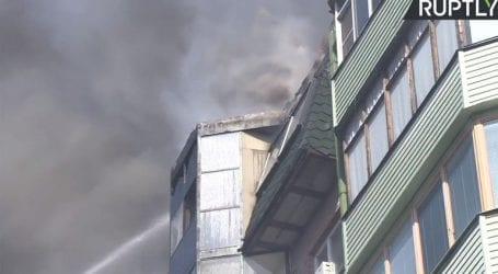 Πυρκαγιά σε συγκρότημα κατοικιών στη Μόσχα