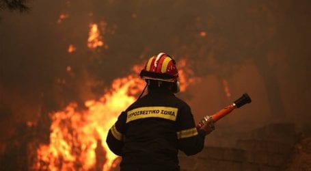 Σε εξέλιξη το πρωί η φωτιά στο Οίτυλο Λακωνίας