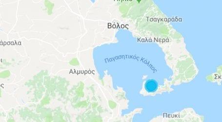 Ασθενής σεισμός στον Παγασητικό κόλπο (χάρτης)