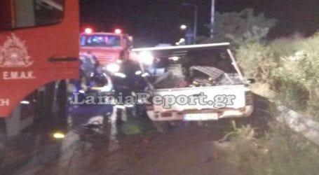 Σοβαρό τροχαίο στη Λαμία με δυο τραυματίες