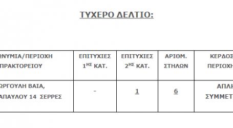 Στις Σέρρες το Τζόκερ που κέρδισε 79.542,89 ευρώ