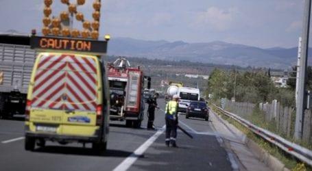 Τροχαίο με σύγκρουση αυτοκινήτων έξω από τη Λάρισα
