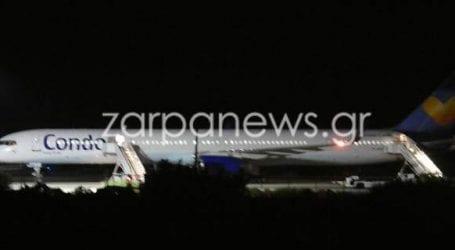 Φάρσα η απειλή για βόμβα στο αεροπλάνο που προσγειώθηκε εκτάκτως στα Χανιά