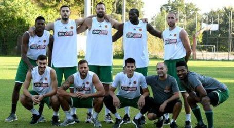 Έπαιξαν ποδόσφαιρο οι παίκτες του Παναθηναϊκού στο Πήλιο