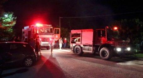 Μεγάλη μάχη με τις φλόγες έξω από το χωριό Ζόλα της Κεφαλονιάς