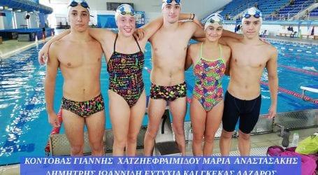 Πέντε αθλητές κι αθλήτριες της Νίκης Βόλου στην προεθνική ομάδα κολύμβησης