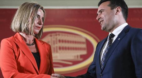 Η Φεντερίκα Μογκερίνι εξέφρασε την στήριξή της στη Συμφωνία των Πρεσπών