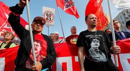 Χιλιάδες διαδηλωτές στη Μόσχα για τις συντάξεις