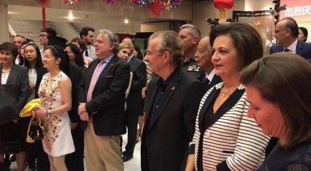 Στην Πρεσβεία της Κίνας για την εθνική επέτειο η Μαρίνα Χρυσοβελώνη