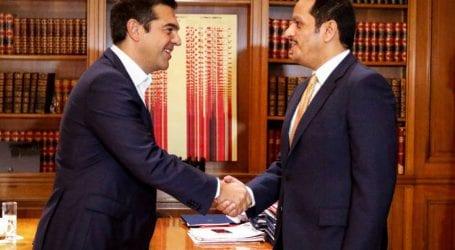 Ολοκληρώθηκε η συνάντηση Τσίπρα με τον ΥΠΕΞ του Κατάρ