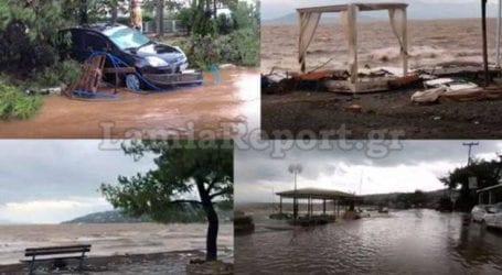 Εικόνες καταστροφής στον Θεολόγο μετά το πέρασμα του κυκλώνα