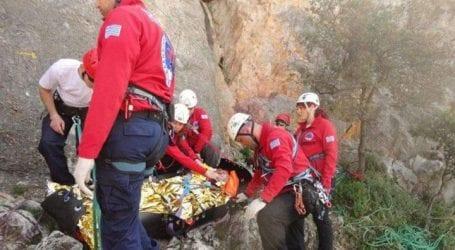 Επιχείρηση διάσωσης τραυματισμένης γυναίκας στον Όλυμπο