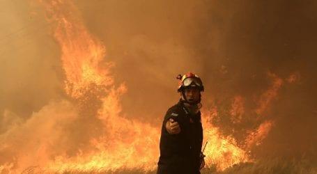 Φωτιά εν μέσω θυελλωδών ανέμων στην Ηλεία
