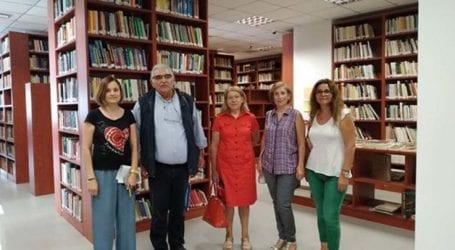 Τη Δημόσια Βιβλιοθήκη Λάρισας επισκέφτηκε ο Παπαδόπουλος