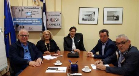 Με τη διοίκηση του Εμπορικού Συλλόγου συναντήθηκε ο πρύτανης του ΤΕΙ Θεσσαλίας