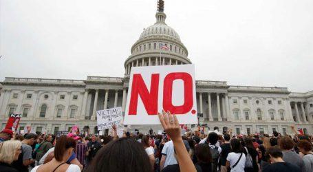 Διαδήλωση στο Κογκρέσο κατά του διορισμού του Κάβανο