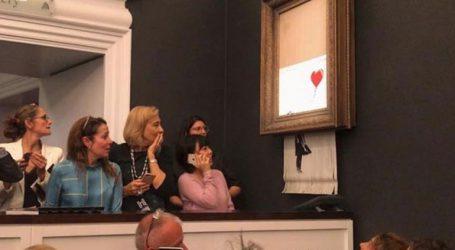 Απίστευτο! Αυτοκαταστράφηκε διάσημος πίνακας του Μπάνκσι αφότου πωλήθηκε σε δημοπρασία