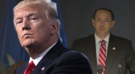 Ο Τραμπ αρνείται ότι έχει πρόθεση να αποπέμψει τον υφυπουργό Δικαιοσύνης Ροντ Ρόζενσταϊν