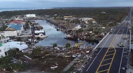 Εναέριες εικόνες από το καταστροφικό πέρασμα του τυφώνα Μάικ