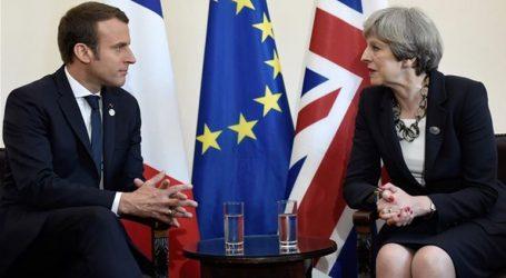Σύντομη συνάντηση του Μακρόν με την Τερέζα Μέι στις Βρυξέλλες