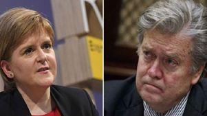 Η πρωθυπουργός της Σκωτίας αποχωρεί από εκδήλωση του BBC με τον Στιβ Μπάνον