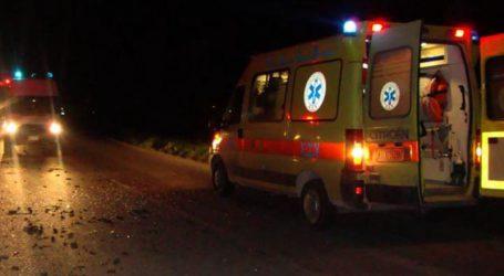 Τροχαίο στο δρόμο Γιάννουλης – Αμπελώνα: Στο νοσοκομείο δύο άτομα