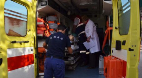 Στο Γενικό Νοσοκομείο Λάρισας 46χρονος μετά από τροχαίο στον Αμπελώνα